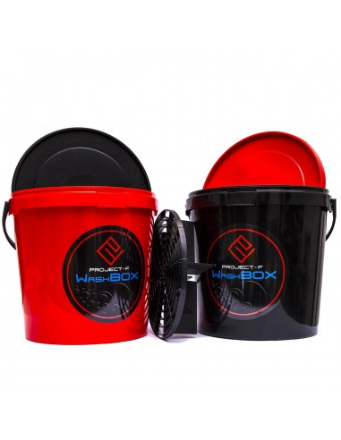 PROJECT F ® - WashBOX - black bucket 12,5l + ScratchSchield