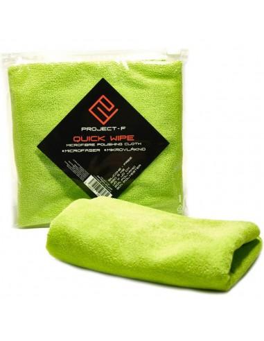 PROJECT F ® - Quick Wipe - Microfiber Cloth - Size: 40x40cm - Zelená
